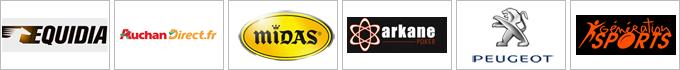 Equidia - AuchanDirect - Midas - Arkane poker - Peugeot - Génération Sports